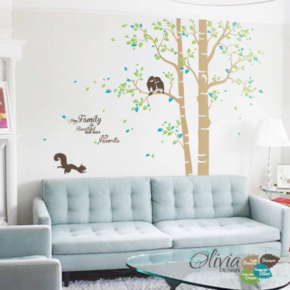 Baby Nursery Large Family Tree Vinyl Wall Decal Home Decor Etsy