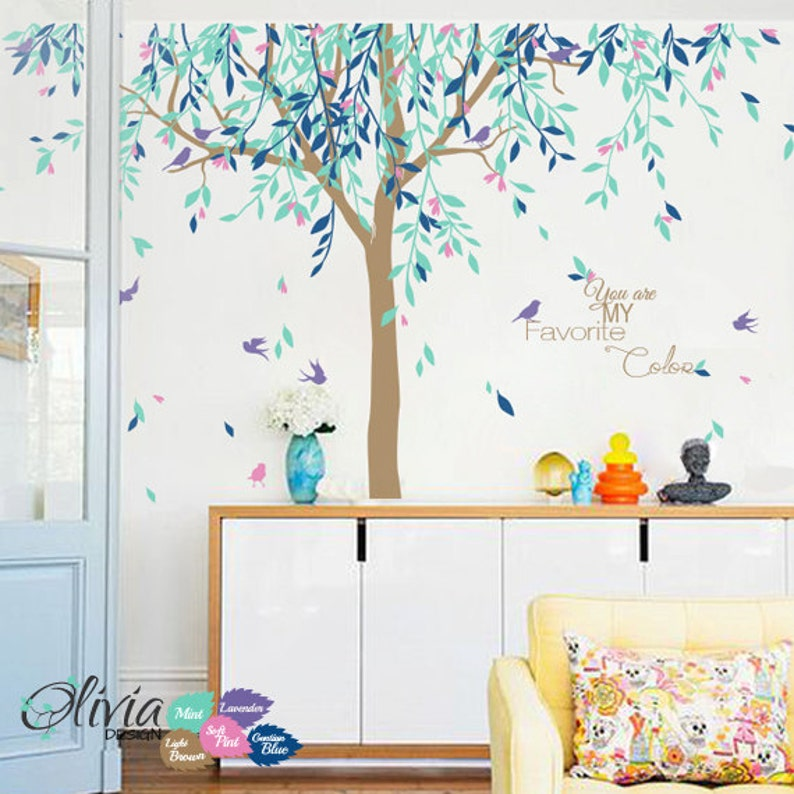 Large Willow Tree Vinyl Wall Decal Baby Nursery NT017