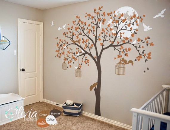 KW004 Cute tree wall decal Large Tree wall tattoos removable wall sticker