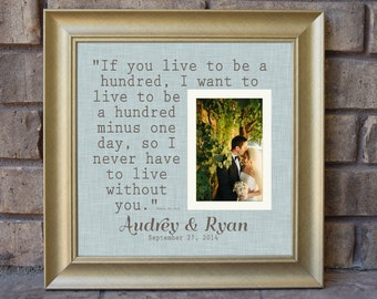 personalized frame quote frame I Want All of You Custom Picture Frame square frame wooden frame Wedding frame- 15x15