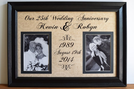 Wedding Anniversary Frame Anniversary Gift For Wife Etsy