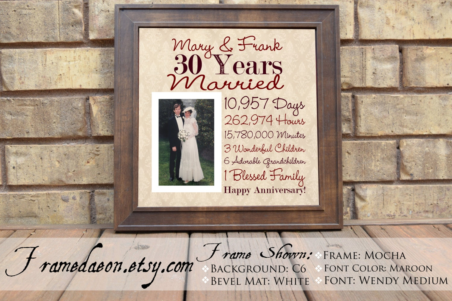 30th Wedding Anniversary Gift For Couple: Wedding Anniversary 30th Wedding Anniversary Gift Parent