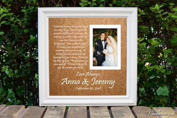 Parents Wedding frame Thank you parent gift Custom Picture | Etsy