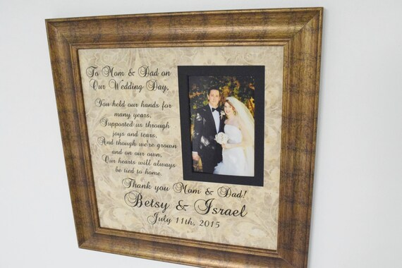 Parent Thank You Parent Gifts For Wedding Parent Wedding Etsy