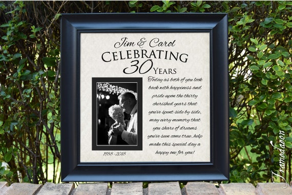 Wedding Anniversary Gift 30th Wedding Anniversary Gift Etsy