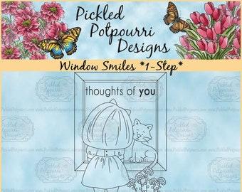 Window Smiles *1-Step* Digital Stamp Download