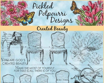Created Beauty Digital Stamp Download