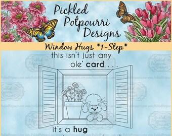 Window Hugs *1-Step* Digital Stamp Download