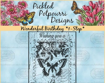 Wonderful Birthday *1-Step* Digital Stamp Download