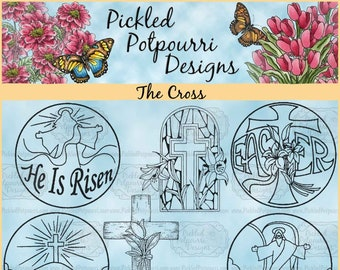 The Cross Digital Stamp Download
