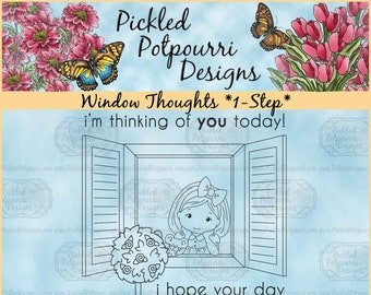 Window Thoughts *1-Step* Digital Stamp Download
