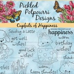 Cupfuls of Happiness Digital Stamp Download