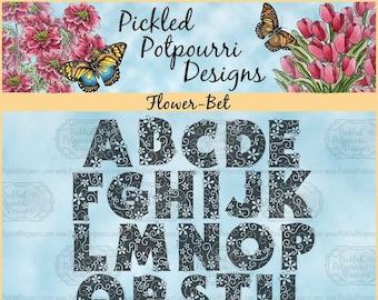 Flower-Bet Digital Stamp Download