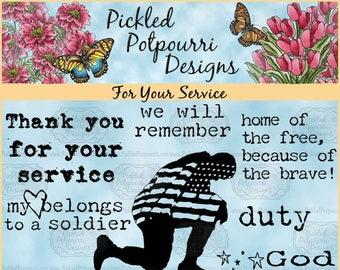 For Your Service Digital Stamp Download