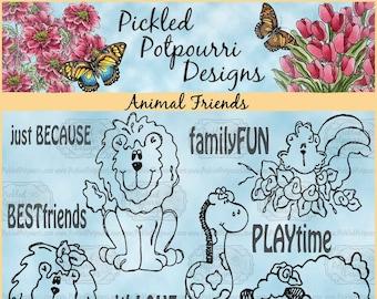 Animal Friends Digital Stamp Download