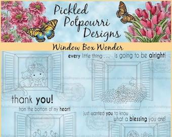 Window Box Wonder Digital Stamp Download