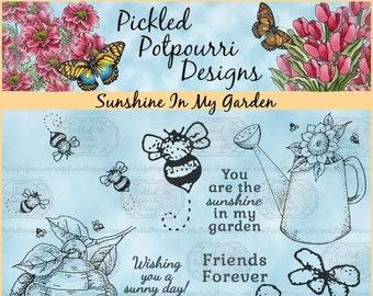 Sunshine In My Garden Digital Stamp Download