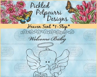 Heaven Sent *1-Step* Digital Stamp Download