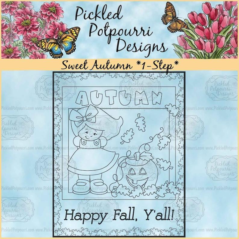 Sweet Autumn 1-Step Digital Stamp Download image 0