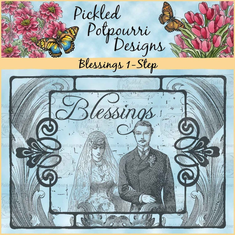 Blessings 1-Step Digital Stamp Download image 0