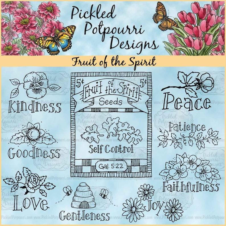 Fruit of the Spirit Digital Stamp Download image 1