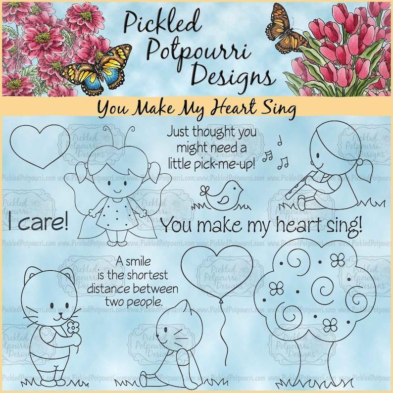You Make My Heart Sing Digital Stamp Download image 0