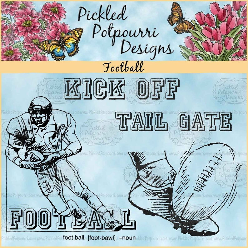 Football Digital Stamp Download image 0