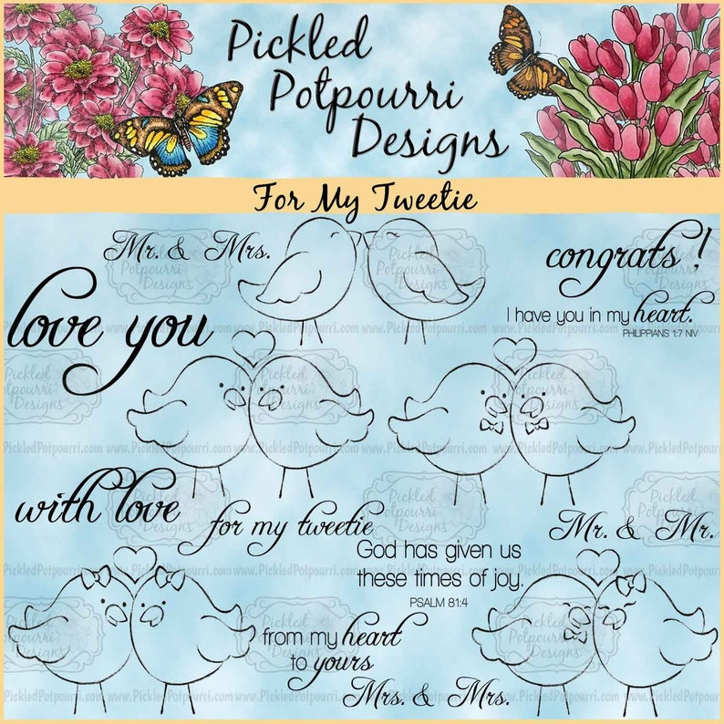 For My Tweetie Digital Stamp Download image 1