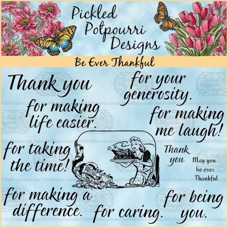 Be Ever Thankful Digital Stamp Download image 0