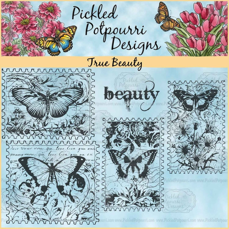 True Beauty Digital Stamp Download image 1
