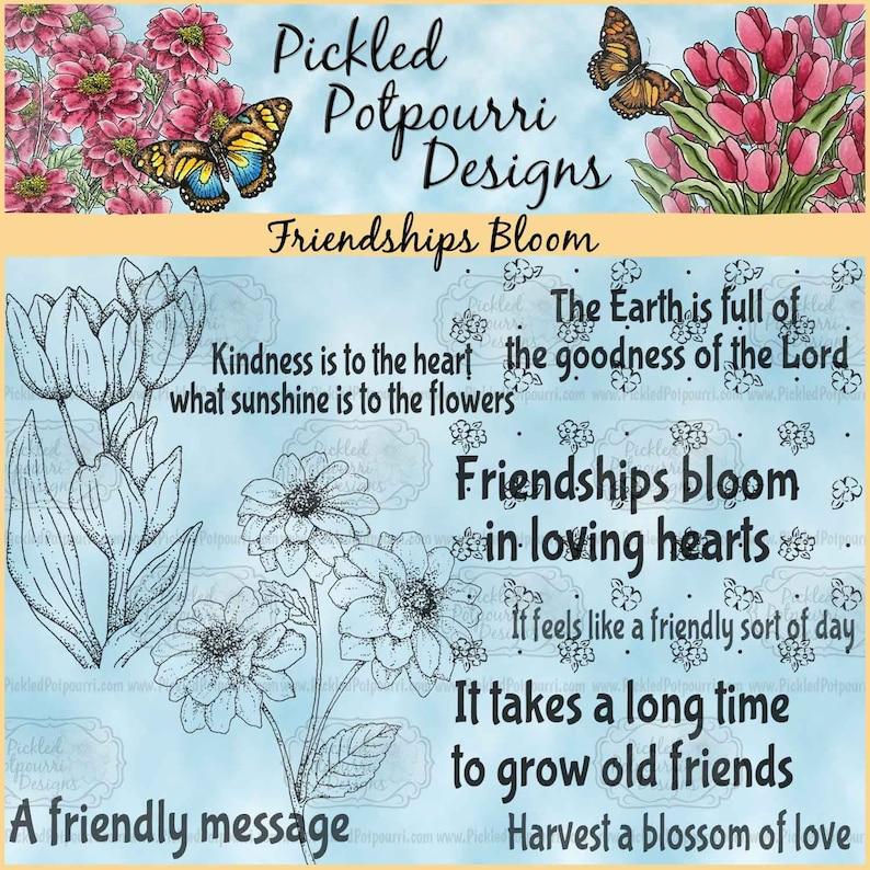 Friendships Bloom Digital Stamp Download image 0