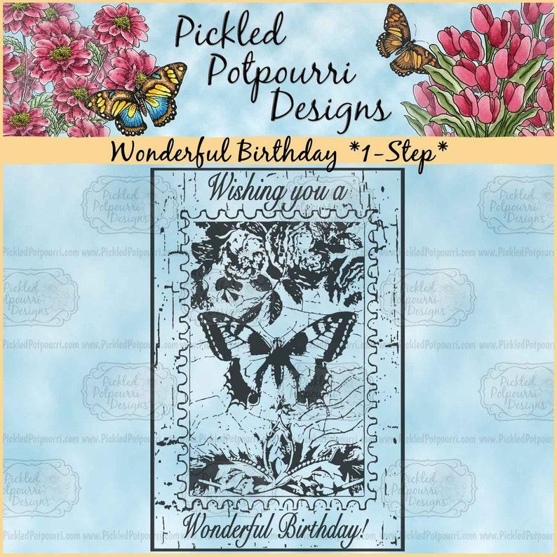 Wonderful Birthday 1-Step Digital Stamp Download image 1