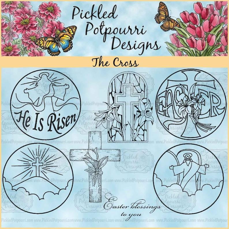 The Cross Digital Stamp Download image 0