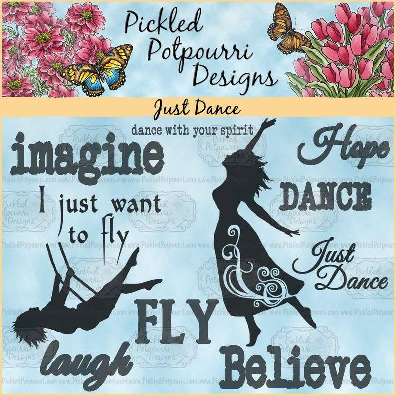 Just Dance Digital Stamp Download image 0