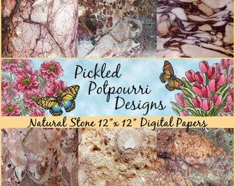 Natural Stone Digital Papers Download