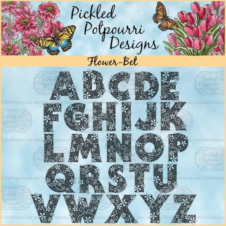 Flower-Bet Digital Stamp Download image 0