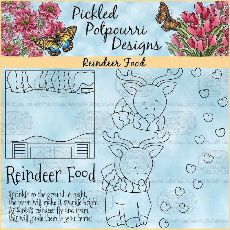 Reindeer Food Digital Stamp Download image 0