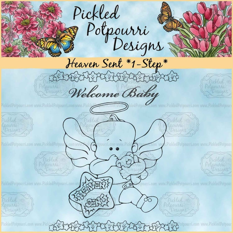 Heaven Sent 1-Step Digital Stamp Download image 0
