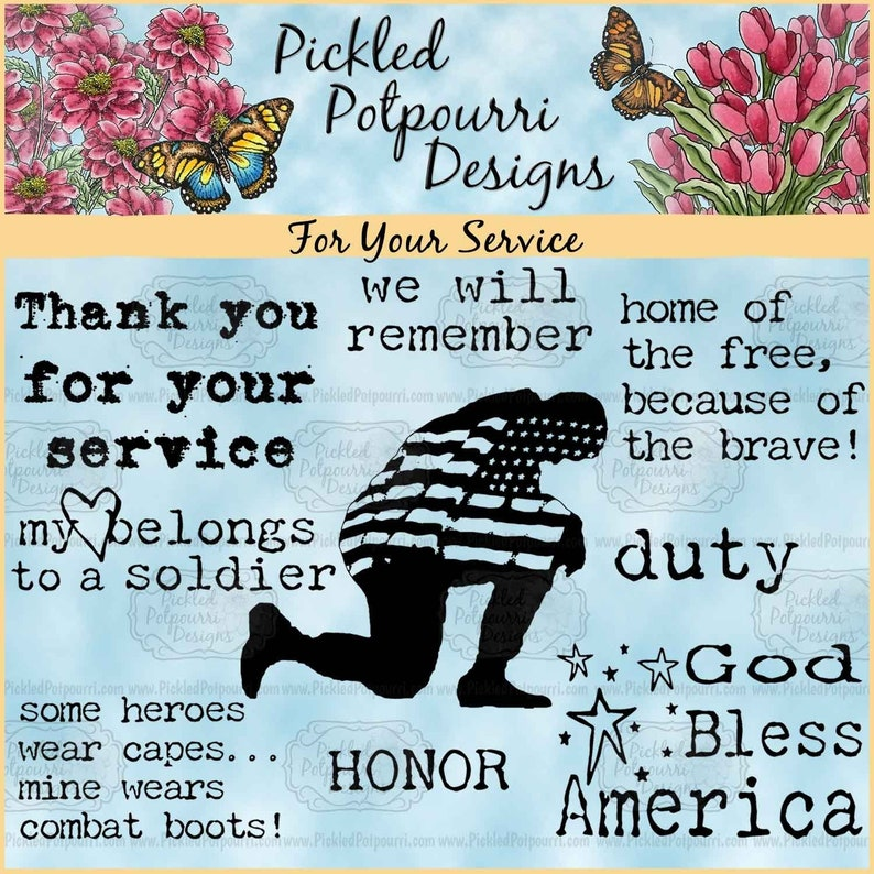 For Your Service Digital Stamp Download image 0