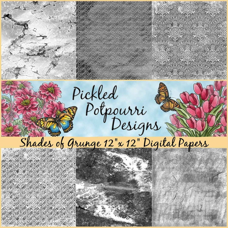Shades of Grunge Digital Papers Download image 0