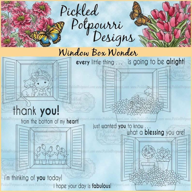 Window Box Wonder Digital Stamp Download image 0