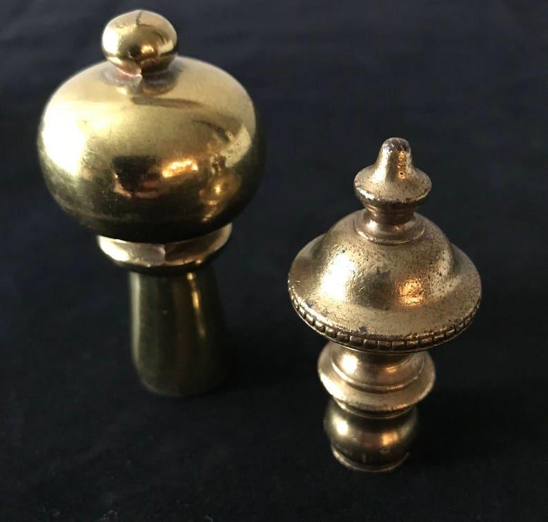 Set of 2 Brass Finials.