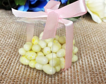 50pcs Clear PVC Wedding Party Baby Shower Favor Gift Craft Boxes 2