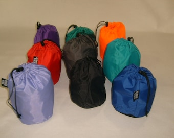 Tiny stuff sacks ,drawstring nylon bag Perfect for Camping Gadgets Made in USA