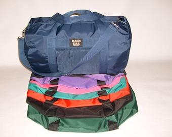 duffle gym sport bag,overnight travel bag 420 denier tough nylon made in U.S.A.