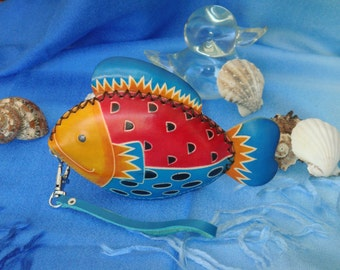 vintage rubber fish coin purse with zipper