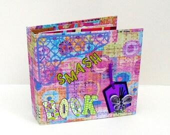 Handmade Smash Book, Junk Journal, Drawing Book, Blank Scrapbook, Diary Journal, Mixed Media Book, Mixed Papers Journal, Ephemera Book,