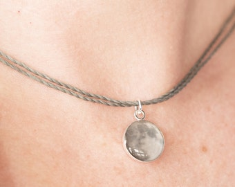 Moon Choker Necklace  / Full Moon Jewelry / Moon Photo in Resin