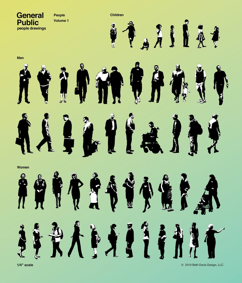 People / Silhouette Vector Art for Architects Designers etc. image 0