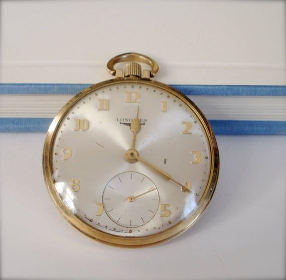 Longines Pocket Watch, 17 Jewels Gold Filled Pocke